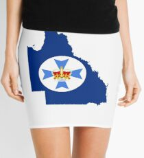 Flag Map of Queensland  Mini Skirt