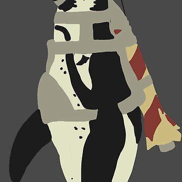 Rocket Penguin by LokiLaufeyson