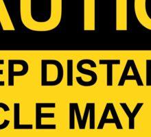 Caution Sticker Sticker
