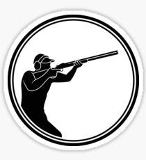 Mens Skeet Shooting Sticker