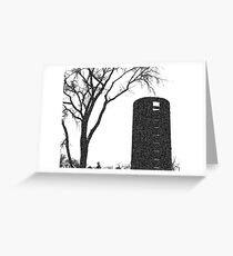 Tree, on the Farm | Black and White | Garden and Nature Greeting Card