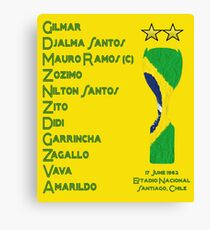 Brazil 1962 World Cup Final Winners Canvas Print