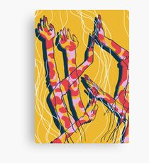 Expressive Arms in Yellow Canvas Print