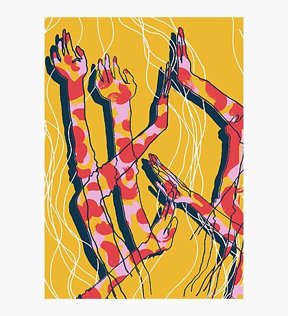Expressive Arms in Yellow Photographic Print