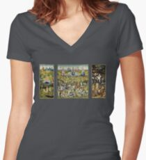 The Garden Of Earthly Delights Women's Fitted V-Neck T-Shirt