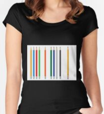 Pencils color set Women's Fitted Scoop T-Shirt
