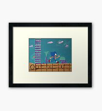 Aqua Lake Zone Framed Print