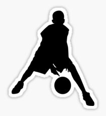 Kid playing basketball Sticker