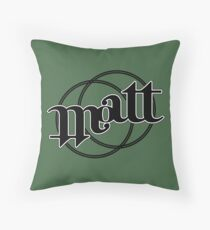 Matt ambigram Throw Pillow