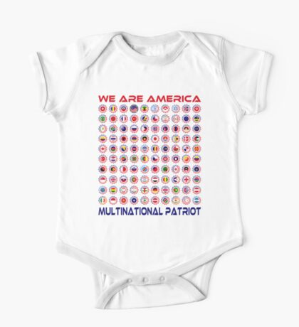 We Are America Multinational Patriot Flag Collective 2.0 Kids Clothes