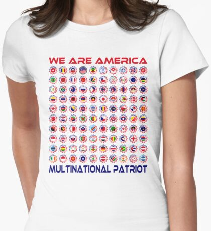 We Are America Multinational Patriot Flag Collective 2.0 T-Shirt