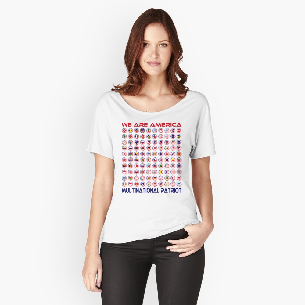 We Are America Multinational Patriot Flag Collective 2.0 Relaxed Fit T-Shirt