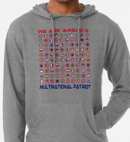 We Are America Multinational Patriot Flag Collective 2.0 Lightweight Hoodie