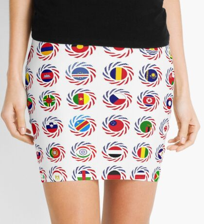 We Are America Multinational Patriot Flag Collective 2.0 Mini Skirt