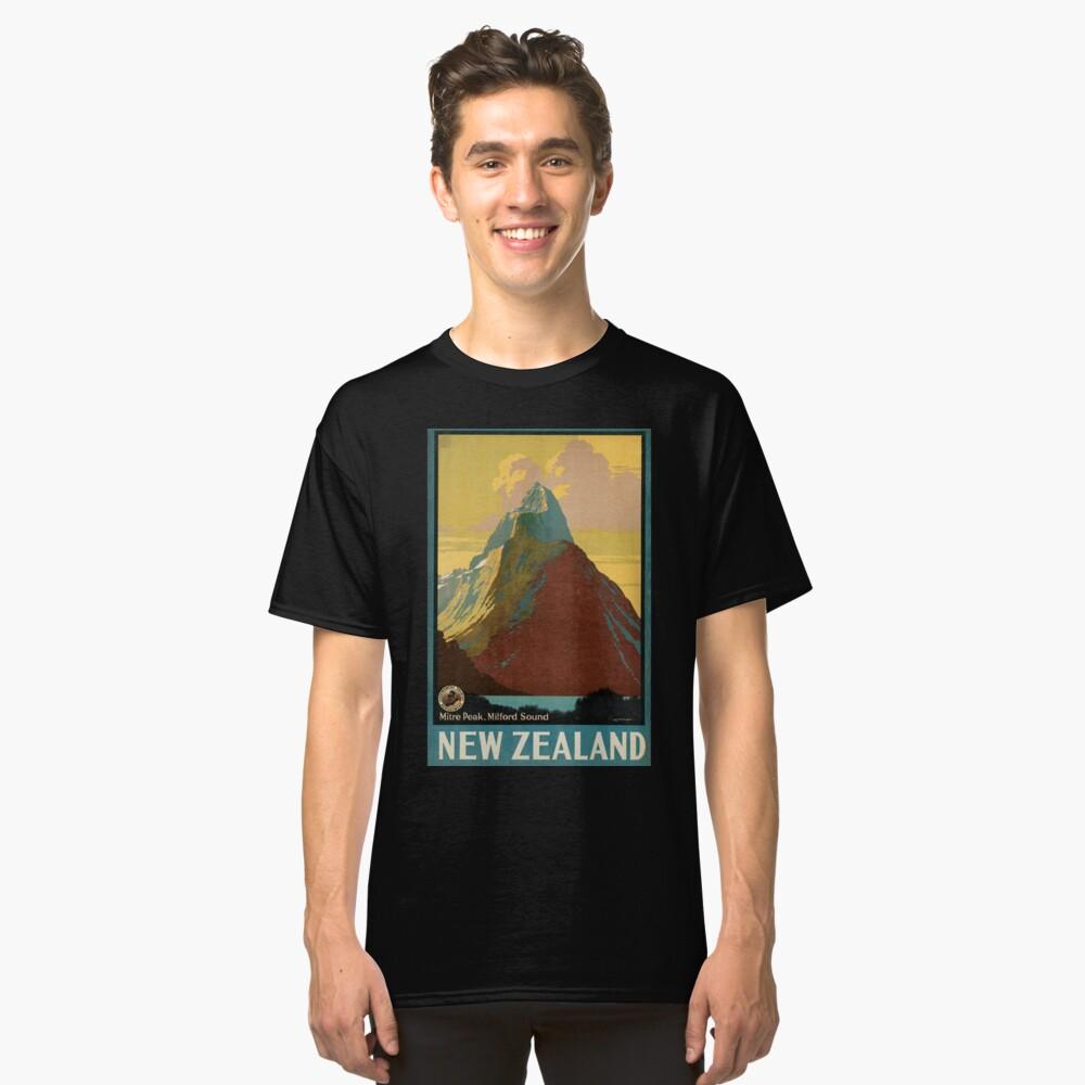 Cartel vintage - Nueva Zelanda Camiseta clásica