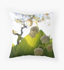 Convallaria Majalis - Lily Of The Valley Flower Filled With Sunrise | Melville, New York Throw Pillow