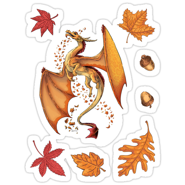 The Dragon of Autumn (framed) by Stephanie Smith