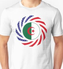 Algerian American Multinational Patriot Flag Unisex T-Shirt