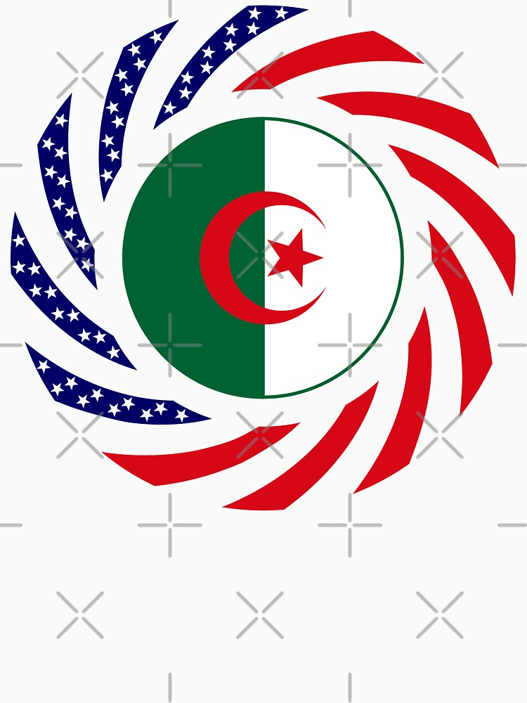 Algerian American Multinational Patriot Flag by carbonfibreme