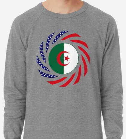 Algerian American Multinational Patriot Flag Lightweight Sweatshirt