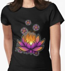 Flaming Lotus Womens Fitted T-Shirt