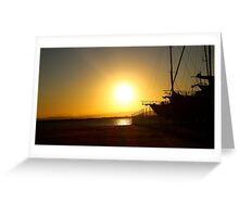 Sunset at the Scarborough Marina  Greeting Card