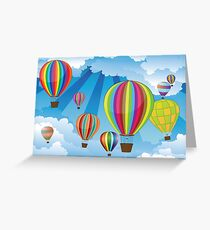 Air Balloons in the Sky 6 Greeting Card