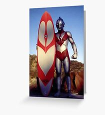 Surf Ultraman 1 Greeting Card