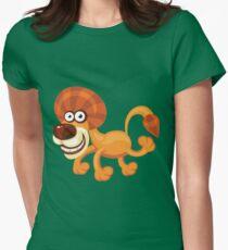 Beautiful lion walk Womens Fitted T-Shirt