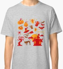 Happy halloween card design related elements Classic T-Shirt