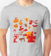 Happy halloween card design related elements Unisex T-Shirt