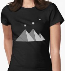 Giza Pyramids Stars of Orion's Belt  Womens Fitted T-Shirt