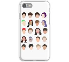 youtuber flat design collage iPhone Case/Skin