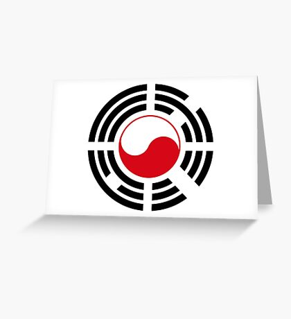 Korean Polish Multinational Patriot Flag Series Greeting Card