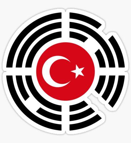 Korean Turkish Multinational Patriot Flag Series Sticker