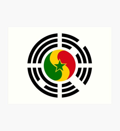Korean Senegalese Multinational Patriot Flag Series Art Print