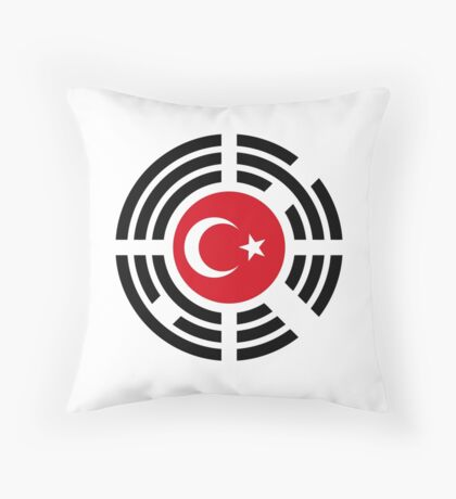 Korean Turkish Multinational Patriot Flag Series Throw Pillow