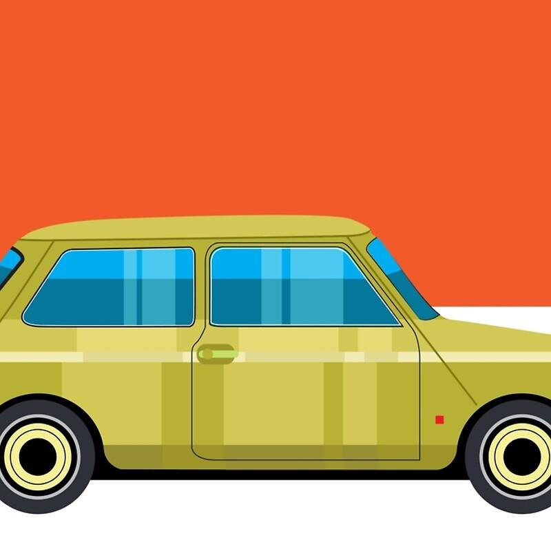Mini Cooper - pop art car\