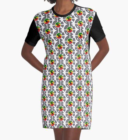 Korean Ghanaian Multinational Patriot Flag Series Graphic T-Shirt Dress