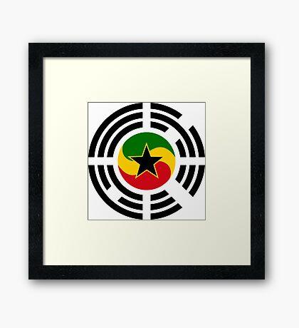 Korean Ghanaian Multinational Patriot Flag Series Framed Print