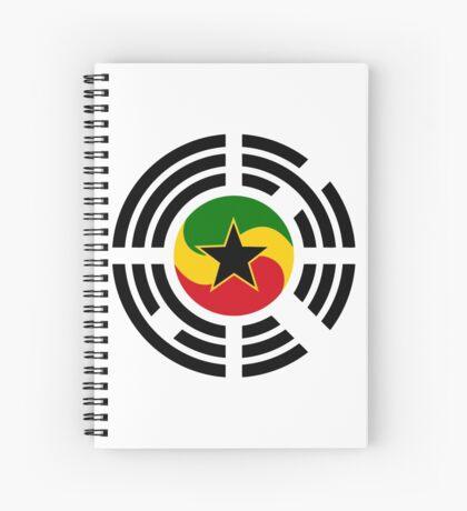 Korean Ghanaian Multinational Patriot Flag Series Spiral Notebook
