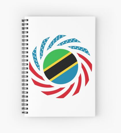 Tanzanian American Multinational Patriot Flag Series Spiral Notebook