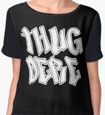 Thug Dere - White Chiffon Top