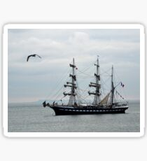Belem French Training Ship At  Lyme.Dorset.UK  Sticker