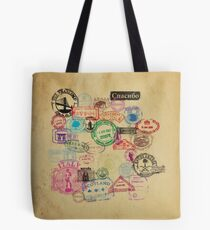 Vintage Passport Stamps Tote Bag