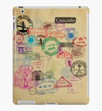 Vintage Passport Stamps iPad Case/Skin