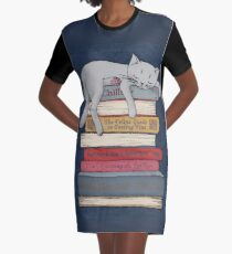 How to Chill Like a Cat Graphic T-Shirt Dress