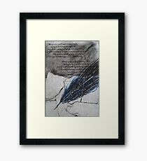 the quill Framed Print