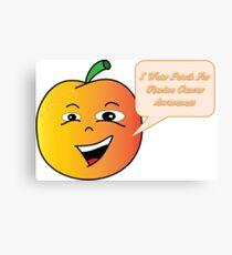 Uterine Cancer Awareness Peach Canvas Print