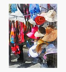 Hats and Purses at Street Fair Photographic Print
